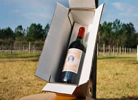 Wine in Shipping Box